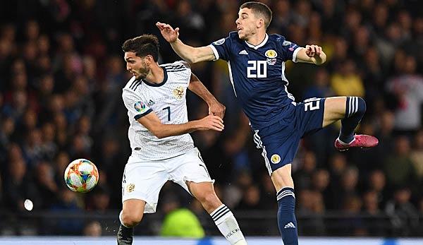 Russland Gegen Schottland Em Qualifikation Heute Live Im Tv
