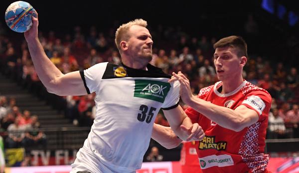 Handball Em Dhb Ruckraumspieler Kuhn Gegen Weissrussland In