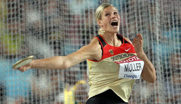 Leichtathletik WM in Daegu: Silber für Diskuswerferin Müller